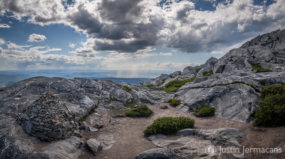 """Passing Rain Showers from Mt Monadnock, NH"""